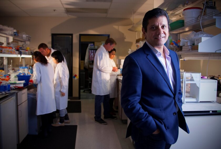 Faheem Hasnain, president and CEO of Receptos, joined the company in November, 2013. He is focused on developing its drugs for immune and metabolic diseases.