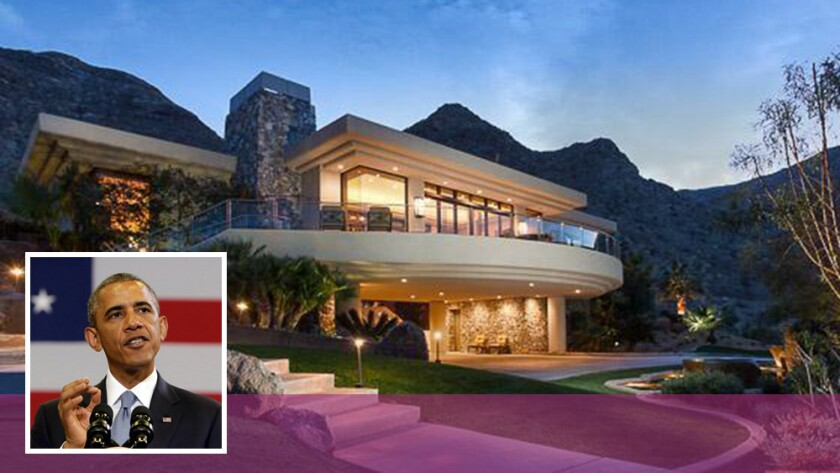 The contemporary home on 3.29 acres in Rancho Mirage was identified as a possible Obama purchase but sold to a couple from Nebraska.