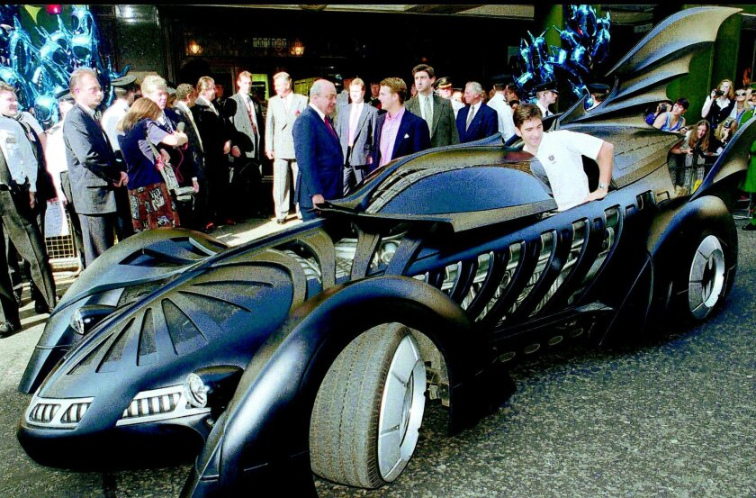 """The Batmobile from the movie """"Batman Forever"""" will make a special appearance.  AP"""