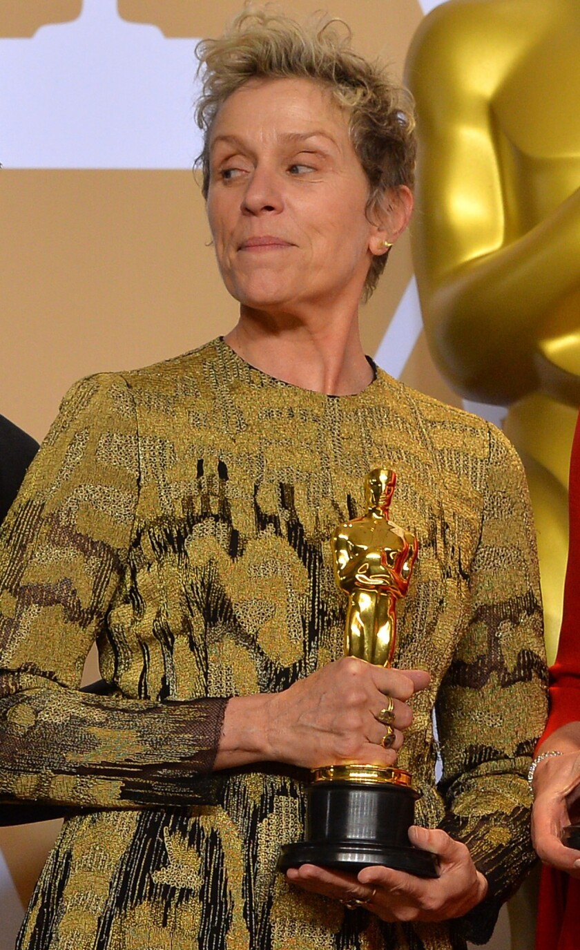 Frances McDormand's alleged Oscar thief walks as court tosses case - Los  Angeles Times