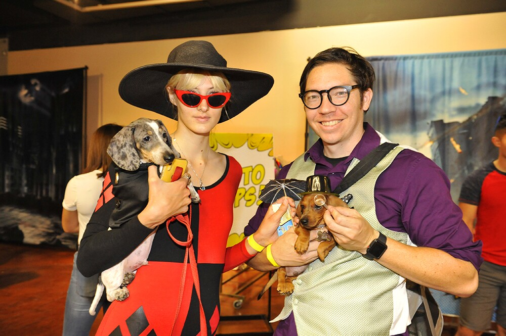 "It was a celebration of ""pup"" culture at PAWmicon, a fundraiser for the Helen Woodward Animal Shelter, at the future home of the Comic-Con Museum in Balboa Park on Sunday, July 7, 2019."