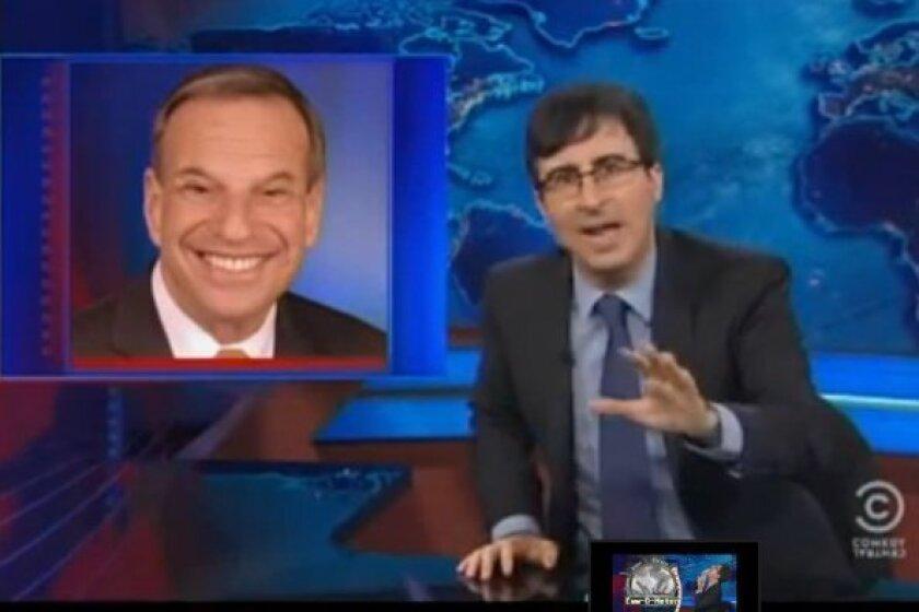 John Oliver skewers Bob Filner on The Daily Show.