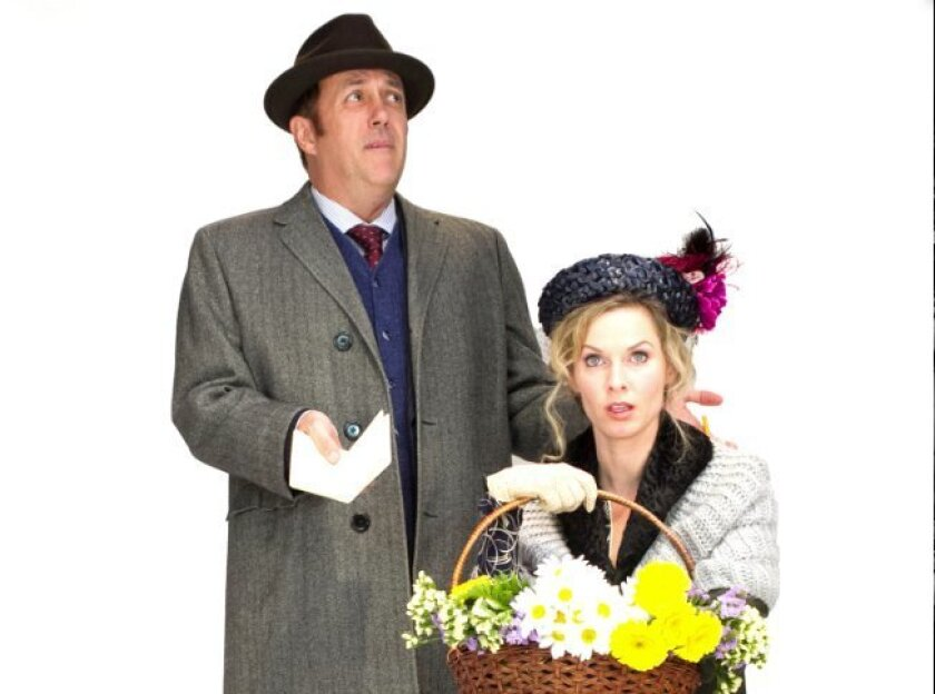 Sean Murray as Henry Higgins and Allison Spratt Pearce as Eliza Doolittle in 'My Fair Lady' at Cygnet.