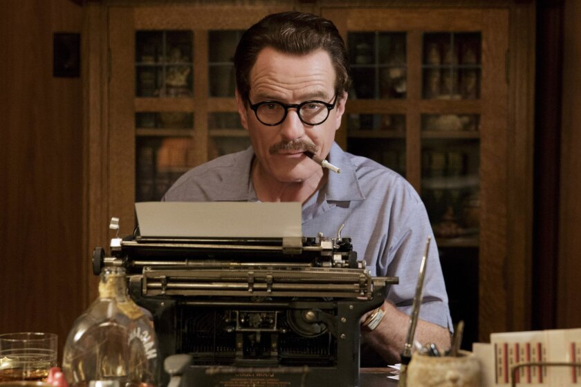 "This photo provided by Bleecker Street shows Bryan Cranston as Dalton Trumbo in Jay Roach's ""Trumbo,"" a Bleecker Street release. (Hilary Bronwyn Gayle/Bleecker Street via AP)"