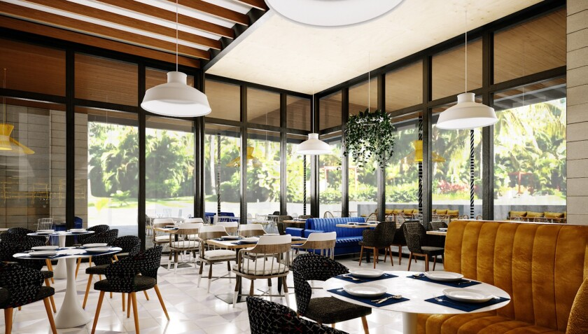 An artist's rendering of the interior of Arlo restaurant