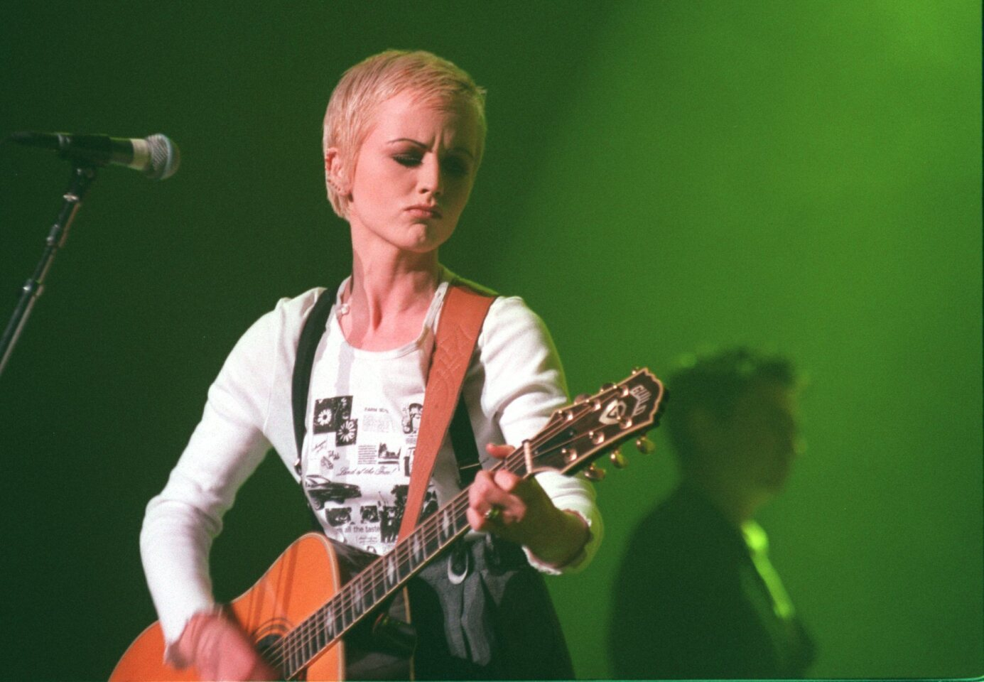 Dolores O'Riordan, the lead singer for the Cranberries, performs at the Wiltern on Nov. 29, 1994.