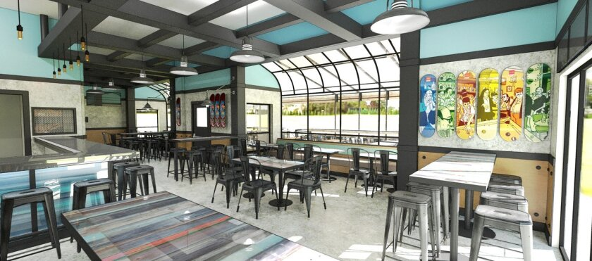 An artist's rendering of the interior of Inland Tavern, the new California coastal pub that will replace 21-year-old Penny Lane Pub and Grill in San Marcos next month.