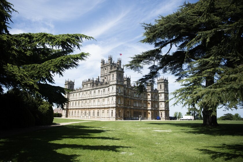 """Highclere Castle, the stand-in for the famous fictional estate featured in """"Downton Abbey."""""""