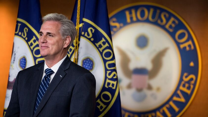 House Majority Leader Kevin McCarthy (R-Bakersfield) at the Capitol in May.