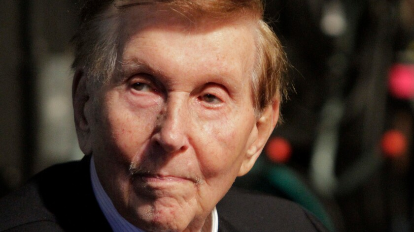 Sumner Redstone, shown in 2013, testified by videotaped deposition as his mental competency trial began Friday.