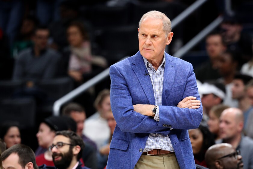 John Beilein coaches the Cleveland Cavaliers against the Washington Wizards on Nov. 8 at Capital One Arena.