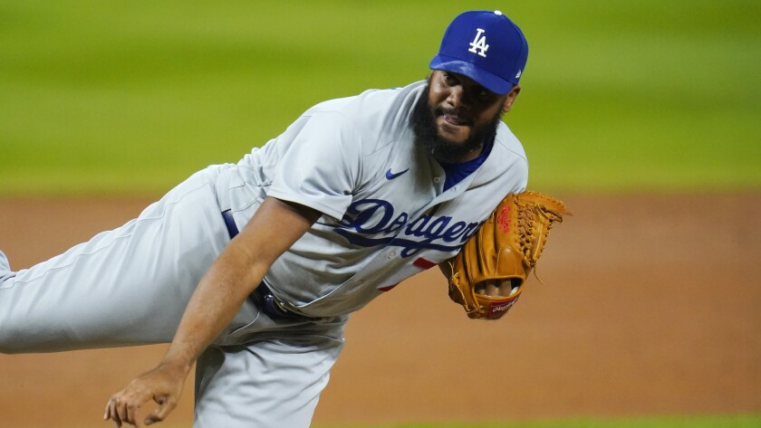 Dodgers closer Kenley Jansen delivers a pitch.