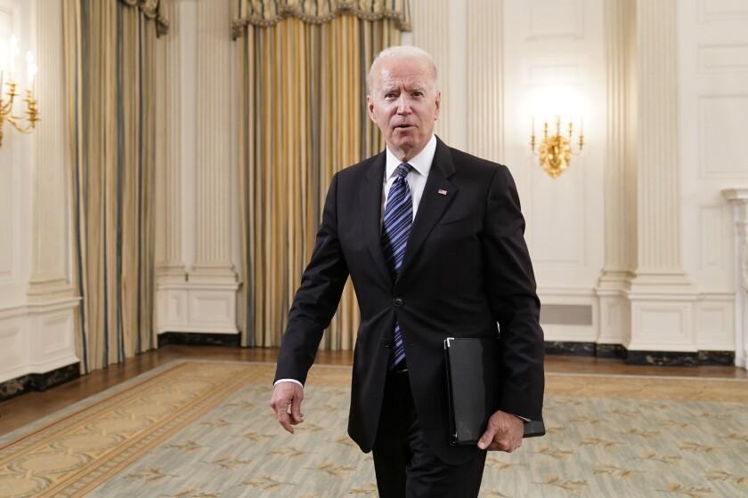 El presidente estadounidense Joe Biden en la Casa Blanca.