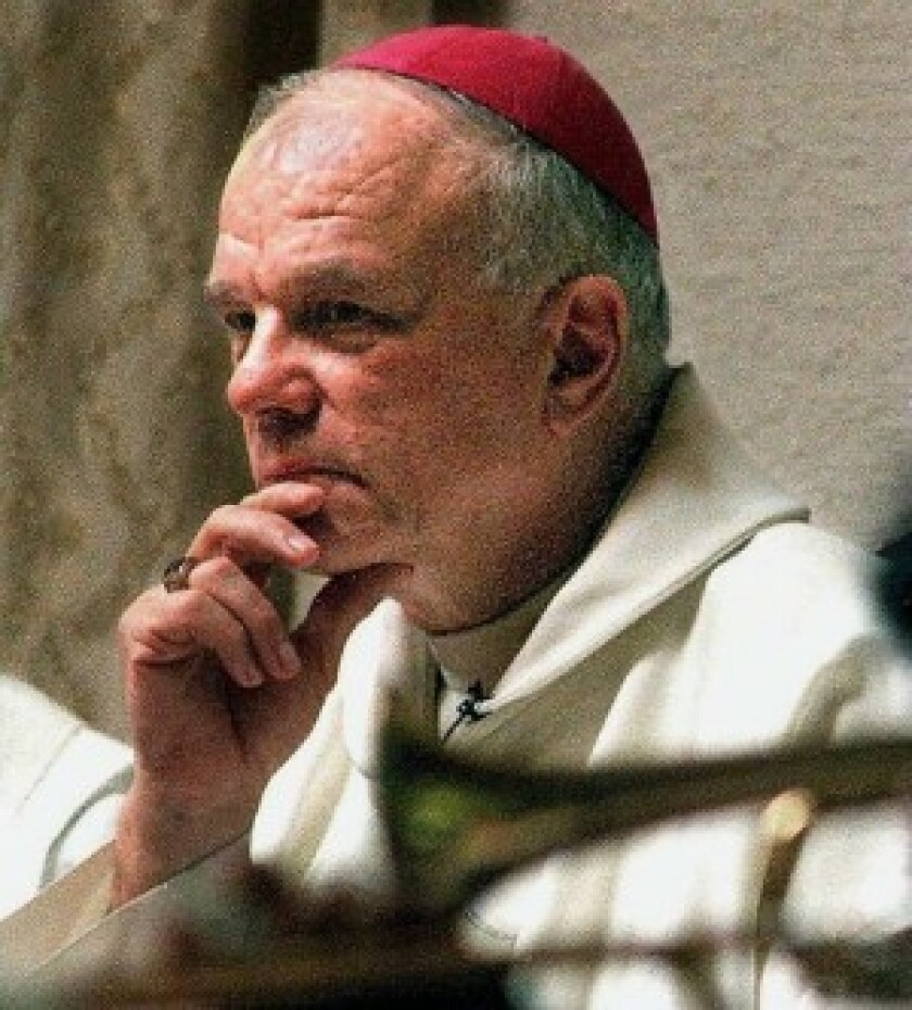 Ziemann left his post as bishop of the Diocese of Santa Rosa in 1999 after a priest alleged that Ziemann had extorted sex from him. Charges were never filed. Church leaders also found he had squandered $16 million in diocese money, diocese officials said.