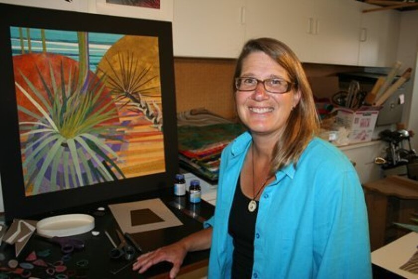 Carmel Valley artist Sue Britt was recently accepted into Balboa Park's Spanish Village Art Center, San Diego's largest collection of studio artists. Starting in July, Britt will share her unique pieces of art in the medium of paper tapestry, using strips of paper to create impressive nature scenes.