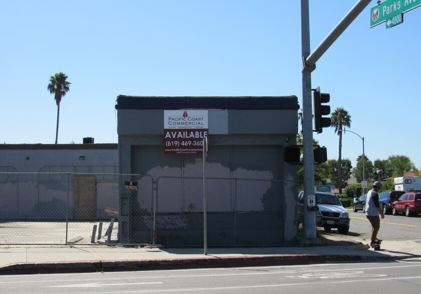 Closed cannabis shops and other blight dot the La Mesa landscape along El Cajon Boulevard and University Avenue. La Mesa community members and the City Council are making a concerted effort to encourage more cleanup of the area.