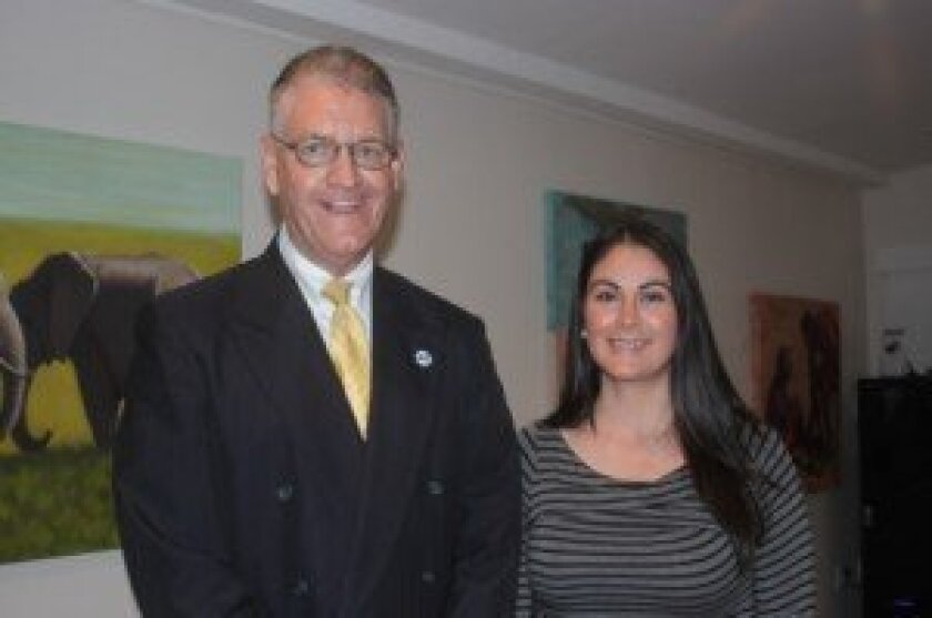 San Diego County Treasurer-Tax Collector Dan McAllister with La Jolla Community Center Executive Director Nancy Walters