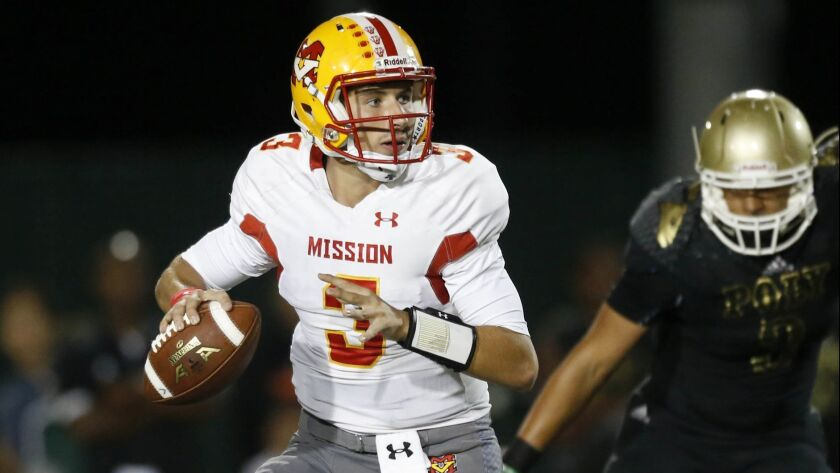 Quarterback Joey Yellen will try to guide Mission Viejo to a 6-0 start with a victory over Orange Lutheran on Friday.