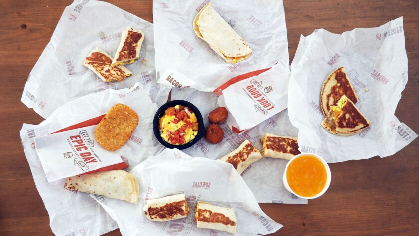 All 10 items on the Taco Bell $1 breakfast menu.