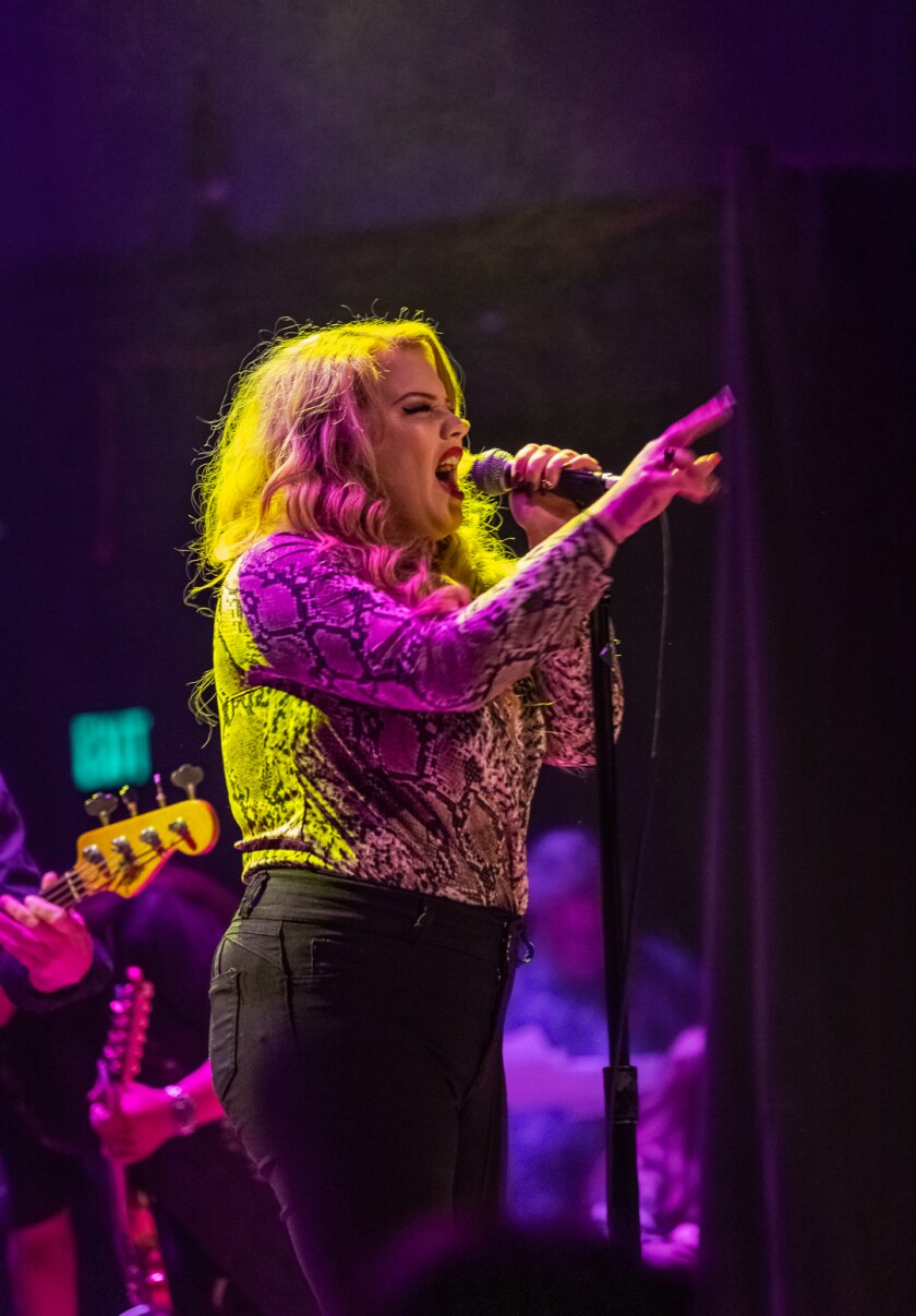 Casey Hensley performs at the 2019 San Diego Music Awards at House of Blues.