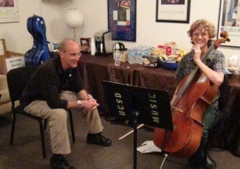 Cello soloist and principal cellist of the New York Phiharmonic Carter Brey  with Paul Maxwell.