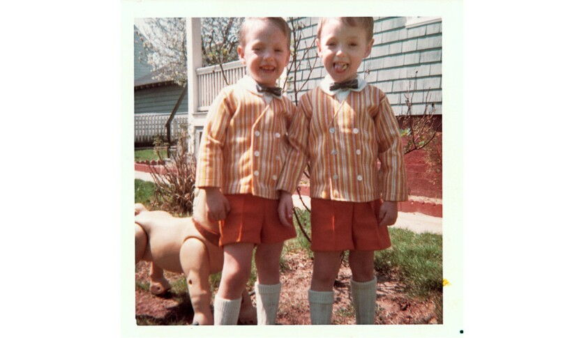 Scott, left, and Mark Kelly pictured in 1967 at age 3.