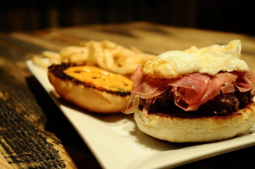 Prosciutto and egg burger