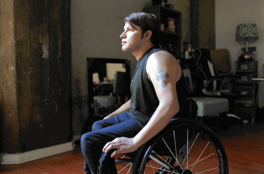 Andy Arias, who uses a wheelchair, takes Uber on a regular basis but the experience is not always trouble-free.