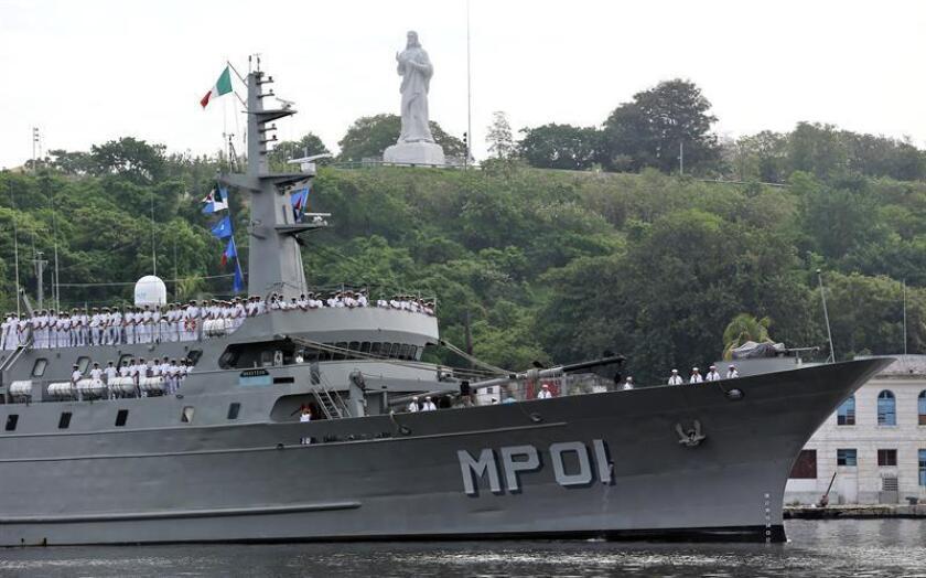 """En la imagen, el buque """"Huasteco"""" de la Armada de México. EFE/Archivo"""