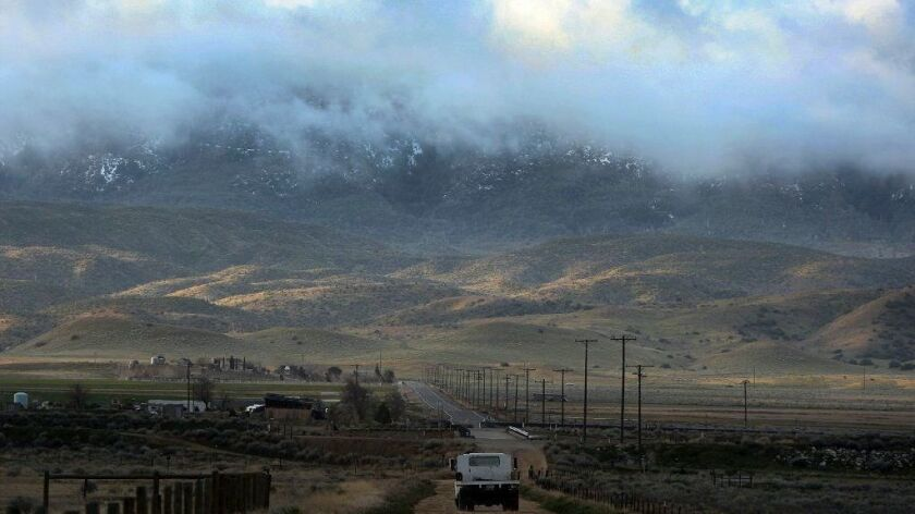 Clouds are seen over Tejon Ranch outside Gorman, near the site of the 19,000-home Centennial development on the outskirts of Los Angeles County.