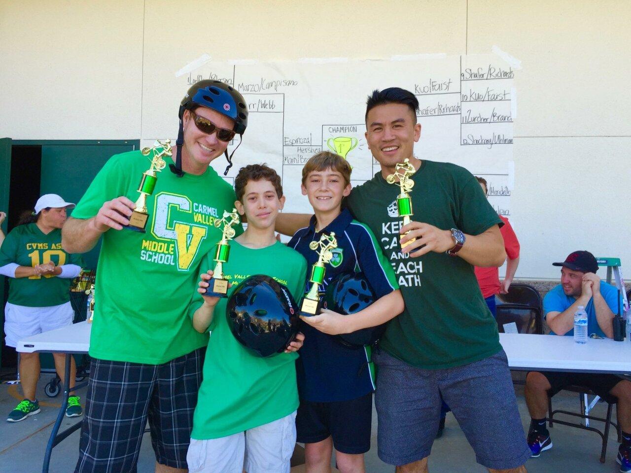 Bobcat 500 winning team: Chris Faist, Aaron Reingold, Sean Cooney, Kendrick Kuo
