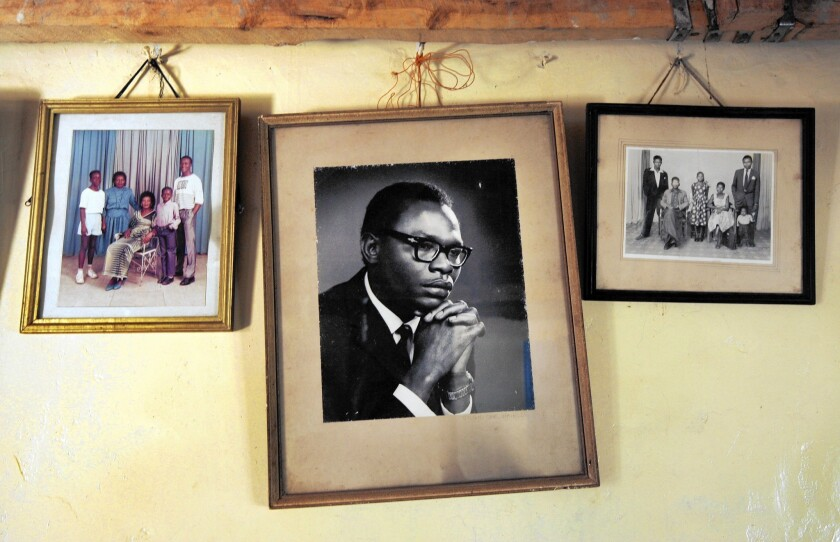 A picture of Barack Obama Sr., father of President Obama, hangs in the home of the president's stepgrandmother Sarah Obama in Kogelo, Kenya.