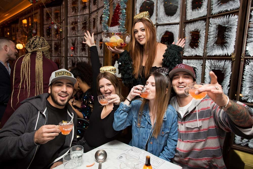 Revelers celebrated the end of 2018 on New Year's Eve, Dec. 31, 2018, at Polite Provisions in North Park.