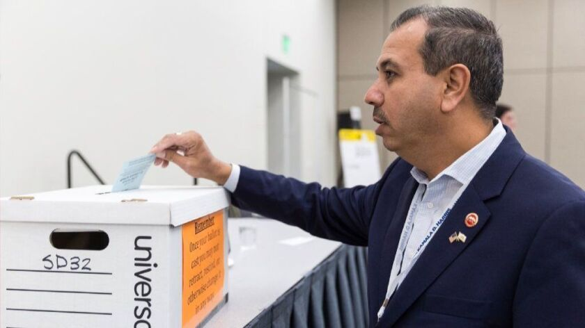 Former state Sen. Tony Mendoza (D-Artesia) resigned in February after a series of sexual misconduct accusations. He is now running for the remainder of the current term and also for another four-year term.