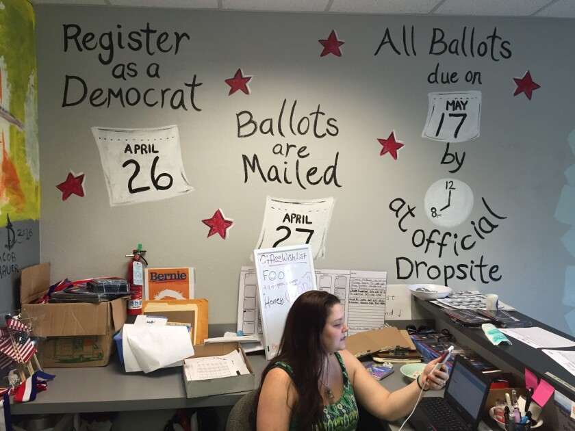 At Bernie Sanders' Portland campaign field office, volunteers spent April getting independents and new voters to register as Democrats so they can vote in the Oregon primary. Now the challenge is to ensure they cast their ballots.