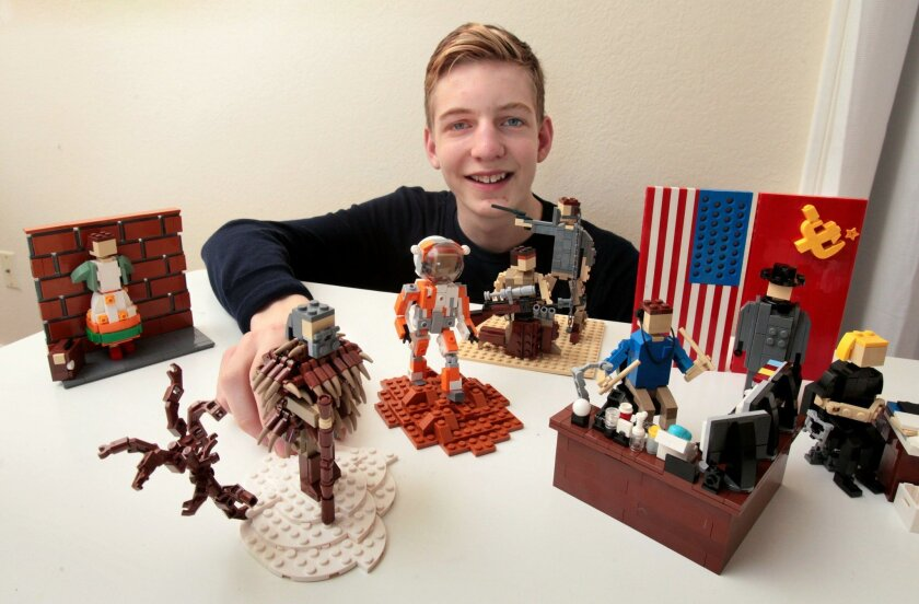Klaus Neyer built sculptures of all eight of the Oscars' Best Picture nominees using Legos.