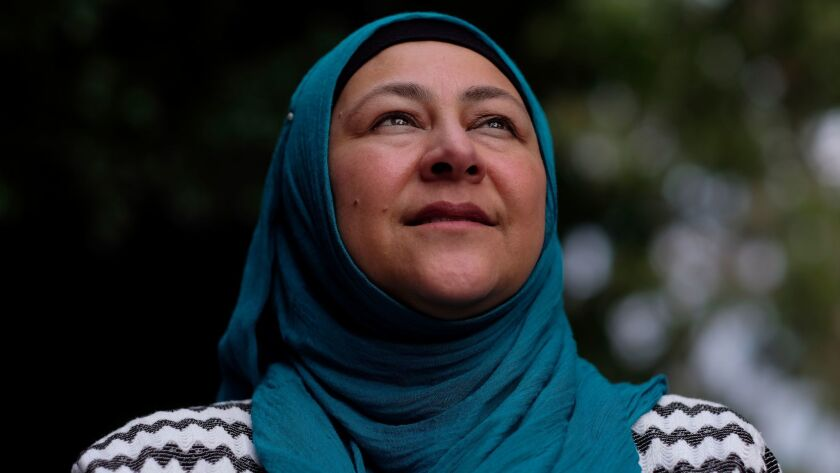 Magdalena Al Omari, a Latina, converted to Islam 15 years ago. (Francine Orr / Los Angeles Times)
