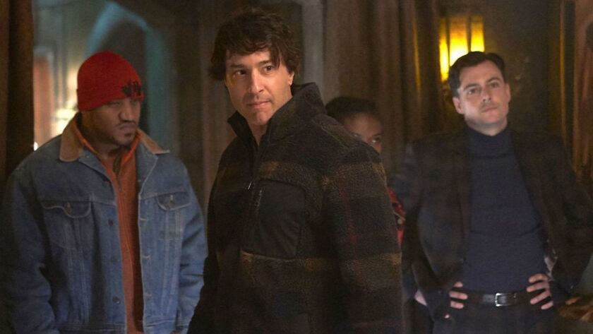 """Arj Barker, center, in """"What We Do in the Shadows"""" on FX."""