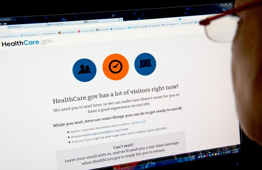 The White House has admitted that the launch of HealthCare.gov, where people can sign up for health insurance, was a debacle and the Obama administration pledged that the vast majority of potential customers would be able to enroll online by the end of November.