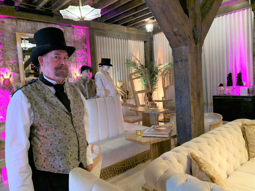 Sonoma actor and historian George Webber greets visitors at the Buena Vista winery.