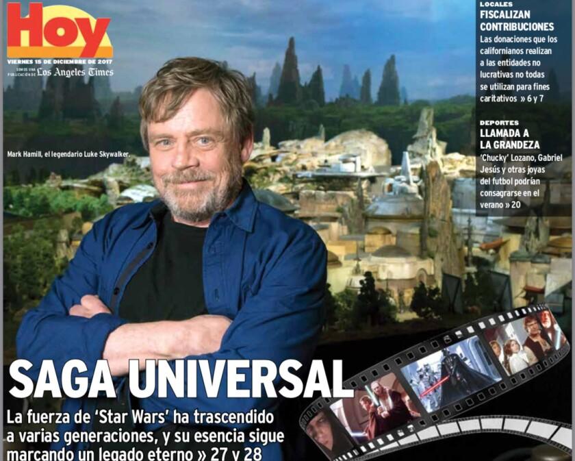 Mark Hamill, el legendario Luke Skywalker.