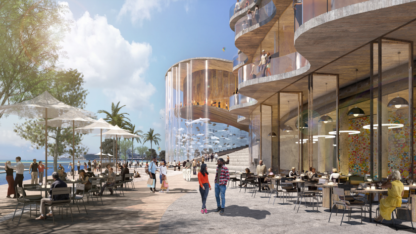 Conceptual rendering of Seaport San Diego