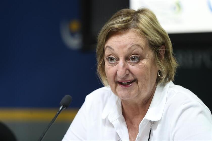 La ministra de Turismo de Uruguay, Liliam Kechichian, habla en Montevideo (Uruguay). EFE