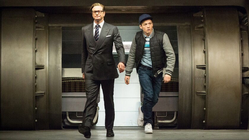 """Colin Firth and Taron Egerton in 2014's """"Kingsman: The Secret Service"""" on Starz."""