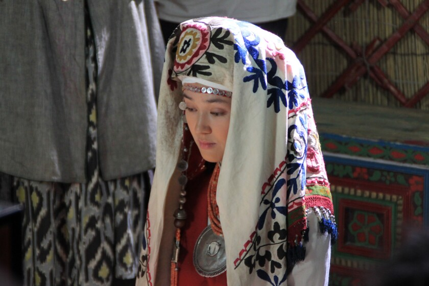 """Elina Abai Kyzy as Kurmanjan Datka from """"Kurmanjan Datka Queen of the Mountains,"""" Kyrgyzstan's submission for the Academy Award for foreign language film."""
