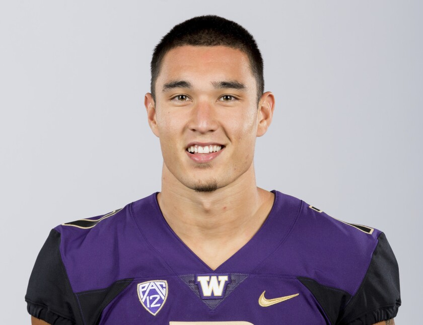 This Aug. 22, 2018, photo provided by the University of Washington shows Taylor Rapp. Rapp is a poss
