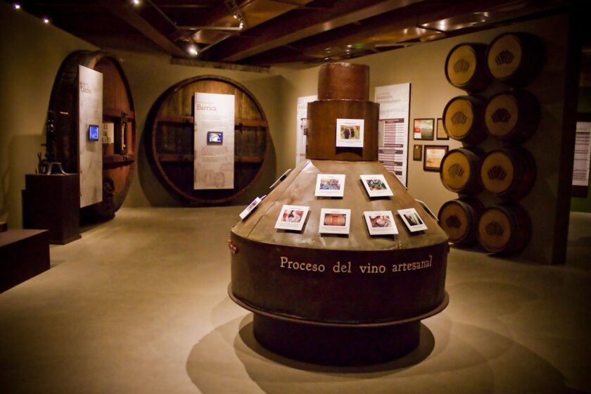 New wine museum in the Guadalupe Valley.