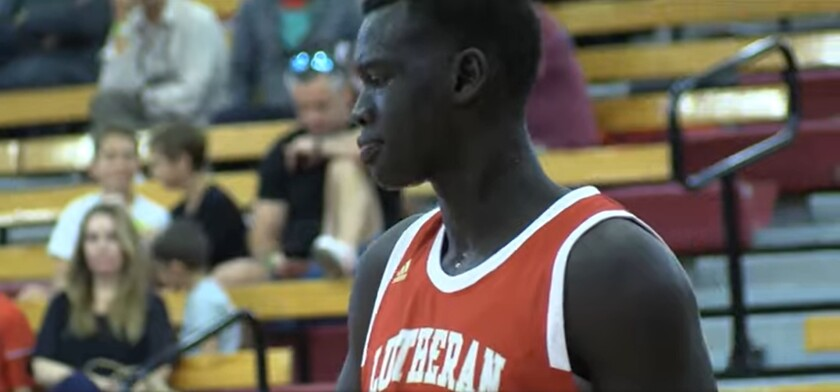 Makur Maker is shown when he played for Orange Lutheran.