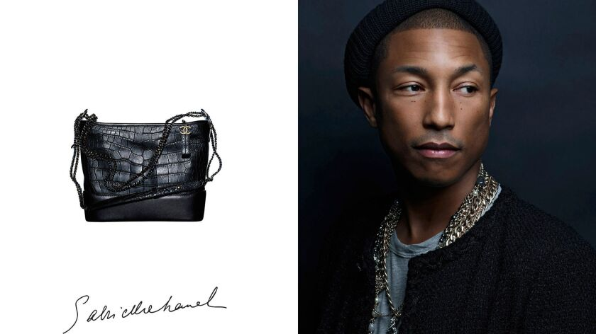 Chanel's Gabrielle handbag ads feature the first man -- in this case, he's Pharrell Williams -- to appear in a handbag campaign for the French fashion house.