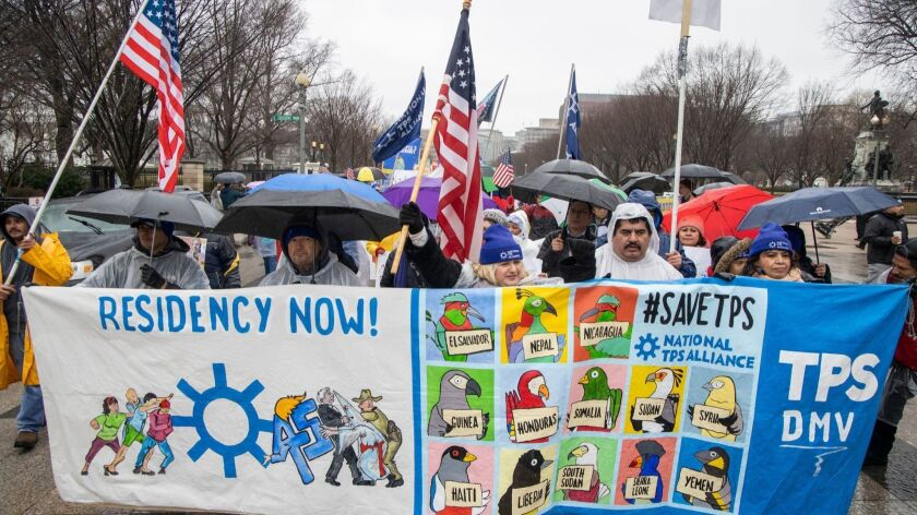Activists call on Congress to enact permanent protections for Temporary Protected Status (TPS) holders, Washington, USA - 12 Feb 2019
